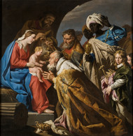 The Adoration of the Magi by Matthias Stom Framed Print on Canvas