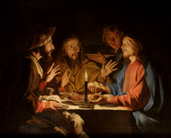 Supper at Emmaus by Matthias Stom Framed Print on Canvas
