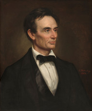 Abraham Lincoln 1860 by George P.A. Healy Framed Print on Canvas