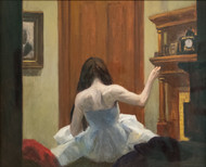 New York Interior 1921 by Edward Hopper Framed Print on Canvas