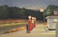 Gas 1940 by Edward Hopper Framed Print on Canvas