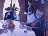 The Dining Room 1886 by Paul Signac Framed Print on Canvas
