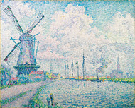 Canal of Overschie 1906 by Paul Signac Framed Print on Canvas