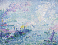 The Port of Rotterdam 1907 by Paul Signac Framed Print on Canvas