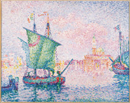 Venice The Pink Cloud 1909 by Paul Signac Framed Print on Canvas