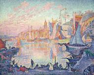 The Port of Saint-Tropez 1901 by Paul Signac Framed Print on Canvas