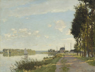 Argenteuil 1872 by Claude Monet Framed Print on Canvas