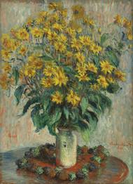 Jerusalem Artichoke Flowers 1880 by Claude Monet Framed Print on Canvas