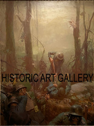 Belleau Wood by Tom Lovell Framed Print on Canvas