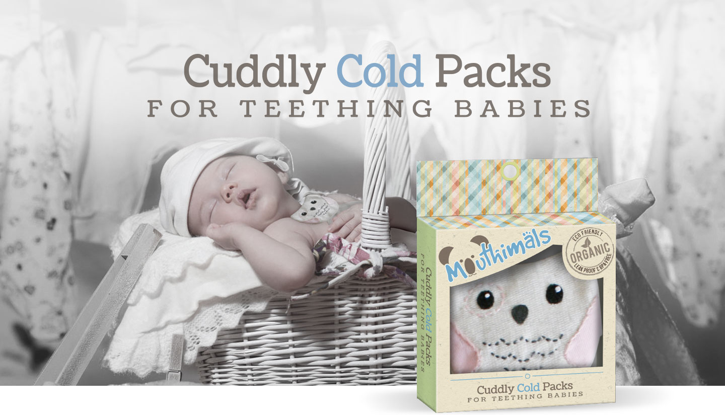 Mouthimals Organic Baby Frozen Teether Cuddly Owl