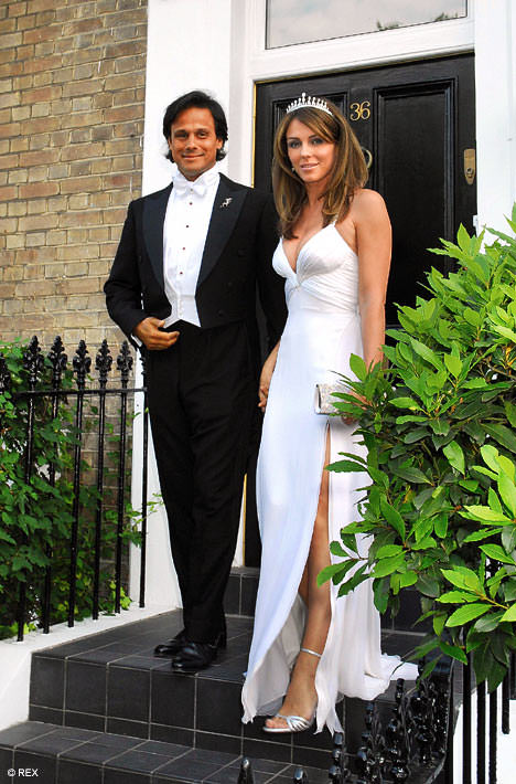 Elizabeth Hurley and Arun Nayar