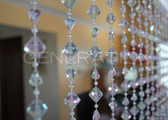 Acrylic Gemstone Beaded Curtains - 3 Feet by 6 Feet 4 Colors