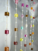 Rainbow Cubes Beaded Curtains - 1 Foot by 6 Feet