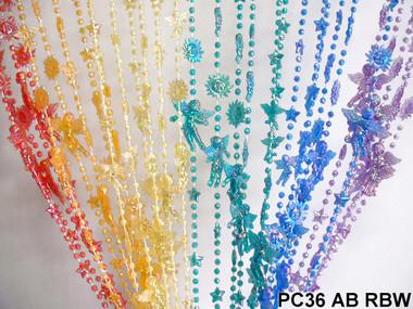 Rainbow Iridescent Angels Beaded Curtains - 3 Feet by 6 Feet