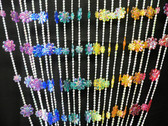 Rainbow Daisies Beaded Curtains - 3 Feet by 6 Feet