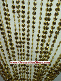 Gold Iridescent Diamond Beaded Curtains - 3 Feet by 12 Feet