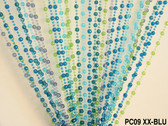 Blue & Green Pearl Ball Beaded Curtains - 3 Feet by 6 Feet