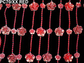 Doorway Beaded Curtains Red Roses