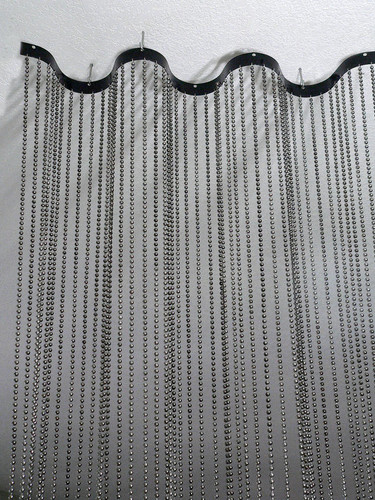 Beaded Curtain with Wave Metal Rod - 9 Feet Long - 3 Options