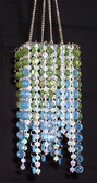 Blue & Lime Beaded Chandelier