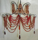 "Brown Empress Beaded Chandelier Size: 18"" W X 15""L Light Kits Included"