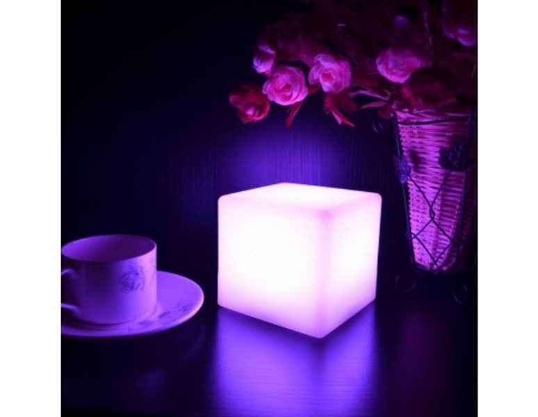 Changing Color Led Night Lamp Or Table Light Centerpieces Cube