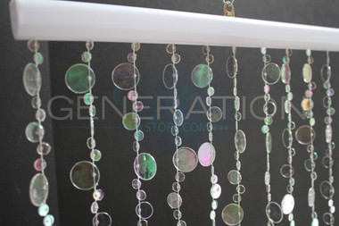 Champagne Bubbles Beaded Curtains - 3 Feet by 6 Feet - 9 Colors