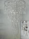 "combination of 24"" and 10"" chandelier HLL1418-2410-SILVER"