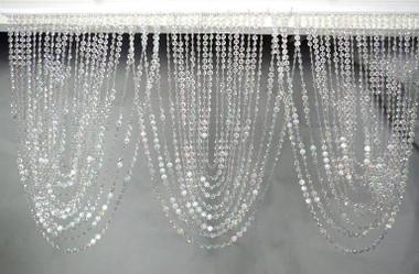 Crystal Iridescent Diamond Valence Beaded Curtain