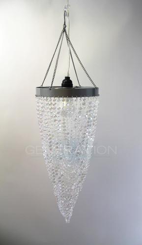 AcrylicTwisted Beaded Chandelier