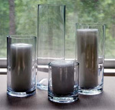 "Cylinder Vase 4"" x 8"" Great for Tall Candles or Flowers"