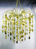 Gold Teardrop/Waterfall Beaded Chandelier