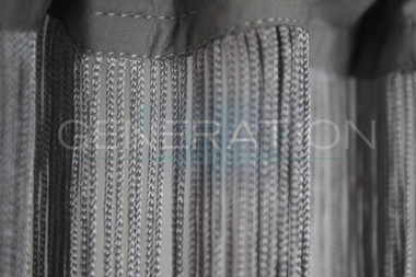 Gray Silver String Curtains - 3 Feet by 12 Feet