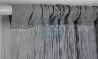 Gray Silver String Curtains - 3 Feet by 20 Feet