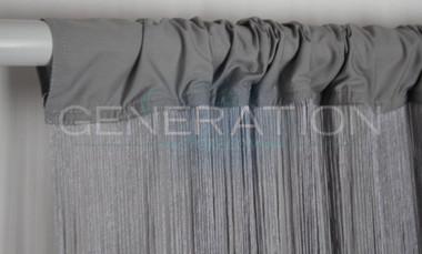 Gray Silver String Curtains - 3 Feet by 20 Feet