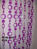 Acrylic Beaded Curtain Hip Circle Purple