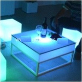 Led Square Coffee Table for Homes, Nightclubs and Events Decoration