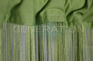 Lime Green String Curtains - 3 Feet by 9 Feet