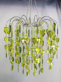 Lime Teardrop/Waterfall Beaded Chandelier