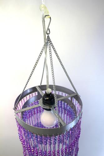 Acrylic beaded Chandelier purple color