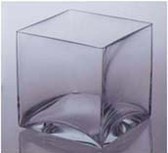 "Square Candle Holder 4"" x 4"" x 4"" Great for Candles and Marbles"