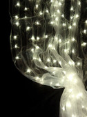 Warm White Organza LED Lighted Curtain - 8 FT and 12 FT Long
