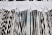 White String Curtains - 3 Feet by 12 Feet