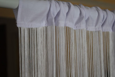 White String Curtains - 3 Feet by 20 Feet