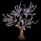 Cherry Blossom Tree 4' 8 High 448 LED Lights Cool White Color