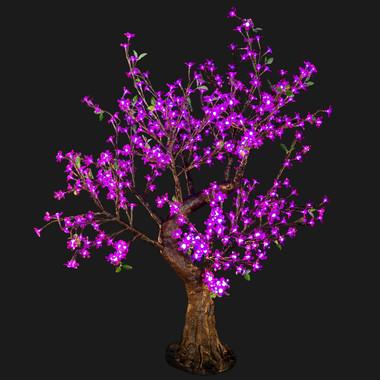 Cherry Blossom Tree 4' 8 High 448 LED Lights Purple Color