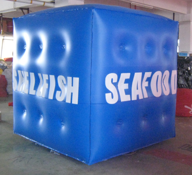 Inflatable Cubes Blue