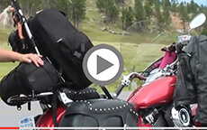Motorcycle Sissybar Bags Customer Video