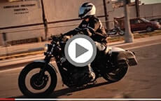 Harley Sportster customer motorcycle Bags videos 1