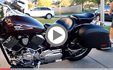Calvin Luttrell's Install & Review of Lamellar Hard Bags on his Yamaha